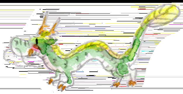 イラスト 水彩 龍 ドラゴン