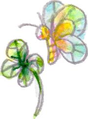 イラスト 水彩 植物 蝶